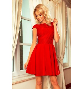 Marta rød blondekjole
