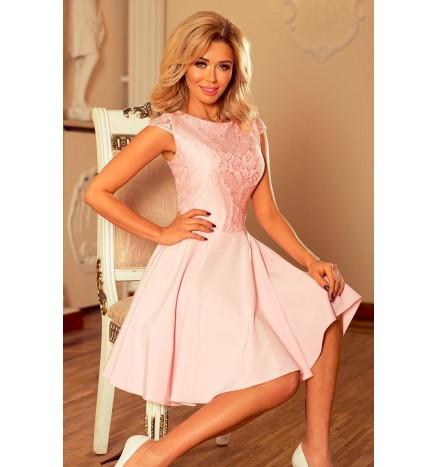Marta pastel pink blondekjole