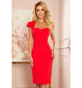 Second hand kort rød kjole str. M